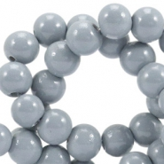 8 mm Glasperlen opaque Cool grey