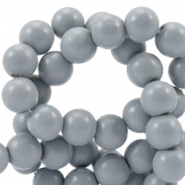 8 mm Glasperlen half matt Cool grey