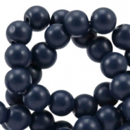 4 mm Glasperlen half matt Dark navy blue