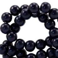 6 mm Glasperlen half matt Midnight blue