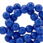 8 mm Glasperlen half matt Cobalt blue
