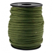 Trendy kordel rund Paracord 4mm Army green