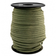 Trendy kordel rund Paracord 4mm Light army green