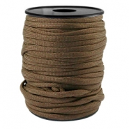 Trendy kordel rund Paracord 4mm Dark brown