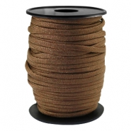 Trendy kordel rund Paracord 4mm Dark bronze brown