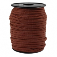 Trendy kordel rund Paracord 4mm Chestnut brown