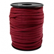 Trendy kordel rund Paracord 4mm Aubergine red