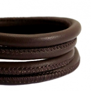DQ Nappa Leder gesteppt 5x4mm Dark chocolate brown