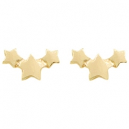 Trendy Ohrringe Stars Gold
