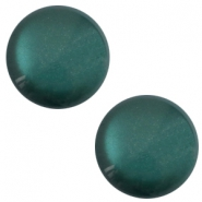 12 mm classic Cabochon Polaris Elements sanft Töne shiny Deep lake teal blue