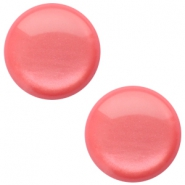 20 mm classic Cabochon Polaris Elements sanft Töne shiny Peachy coral pink