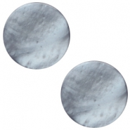 12 mm flach Cabochon Polaris Elements Mosso shiny Rustic blue