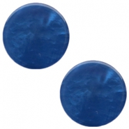 7 mm flach Cabochon Polaris Elements Mosso shiny Radiant blue
