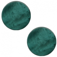 20 mm flach Cabochon Polaris Elements Mosso shiny Deep lake teal blue