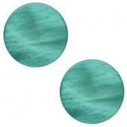 7 mm flach Cabochon Polaris Elements Mosso shiny Lagoon green