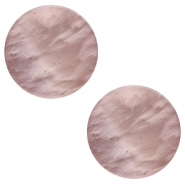 12 mm flach Cabochon Polaris Elements Mosso shiny Taupe brown