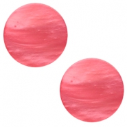 12 mm flach Cabochon Polaris Elements Mosso shiny Peachy coral pink