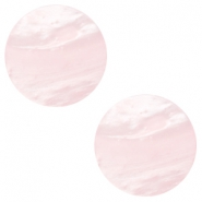 12 mm flach Cabochon Polaris Elements Mosso shiny Soft light rose