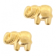 Metall Perlen DQ Elefant 13x9mm Gold (nickelfrei)
