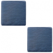20 mm flach Cabochon Polaris Elements viereckig Denim blue