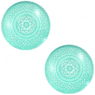 Cabochon Basic Mandala 20mm Lucite green