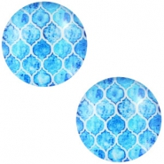 Cabochon Basic Multicolour 12mm Cyan blue