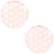 Cabochon Basic Herzen 20mm Light rose