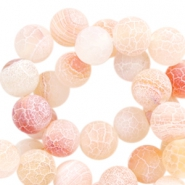 Halbedelstein Perlen rund 8mm Achat Light coral orange opal