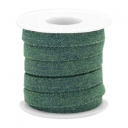 Trendy Kordel flach Denim 10mm Dark emerald green
