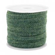 Trendy Kordel flach Denim 5mm Dark green