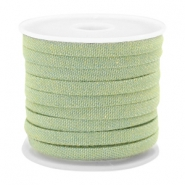 Trendy Kordel flach Denim 5mm Light green