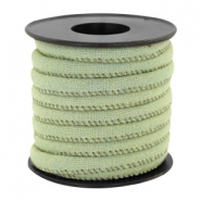 Trendy gesteppte Kordel Denim 6x4mm Light green