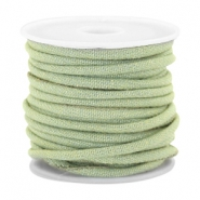 Trendy gesteppte Kordel Denim 4x3mm Light green