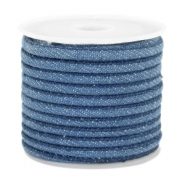 Trendy gesteppte Kordel Denim 4x3mm Regular blue