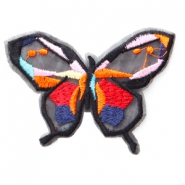 Patches Schmetterling Rot-orange-pink