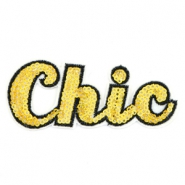 Patches Chic Gelb gold rainbow