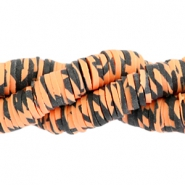 Katsuki Perlen animal print 4mm Orange-black