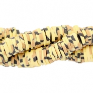 Katsuki Perlen animal print 4mm Yellow-brown-black
