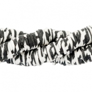 Katsuki Perlen animal print 4mm Off white-black