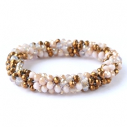 Facett Glas Armbänder Copper-light rose alabaster (metallic/diamond)