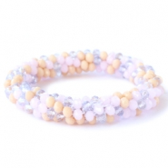Facett Glas Armbänder Rose alabaster-lavender-beige mixed colours (opaque/opal/diamond)