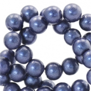 8 mm Glasperlen Pearl Glitter Dark denim blue