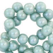 8 mm Glasperlen Pearl Glitter Haze blue