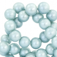 8 mm Glasperlen Pearl Glitter Light haze blue