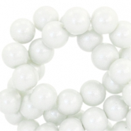 8 mm Glasperlen Pearl Glitter Light grey