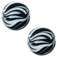 12 mm flach Cabochon Polaris Elements Zebra Powder blue