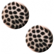 12 mm flach Cabochon Polaris Elements Leopard Rosa pink