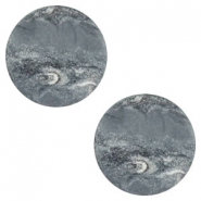 12 mm flach Cabochon Polaris Elements Stone Look Ocean grey