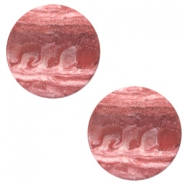 12 mm flach Cabochon Polaris Elements Stone Look Soft cashmere rose