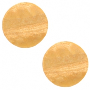 12 mm flach Cabochon Polaris Elements Stone Look Light cognac brown